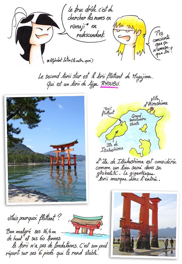 Présentation du torii flottant de Miyajima à Hiroshima.