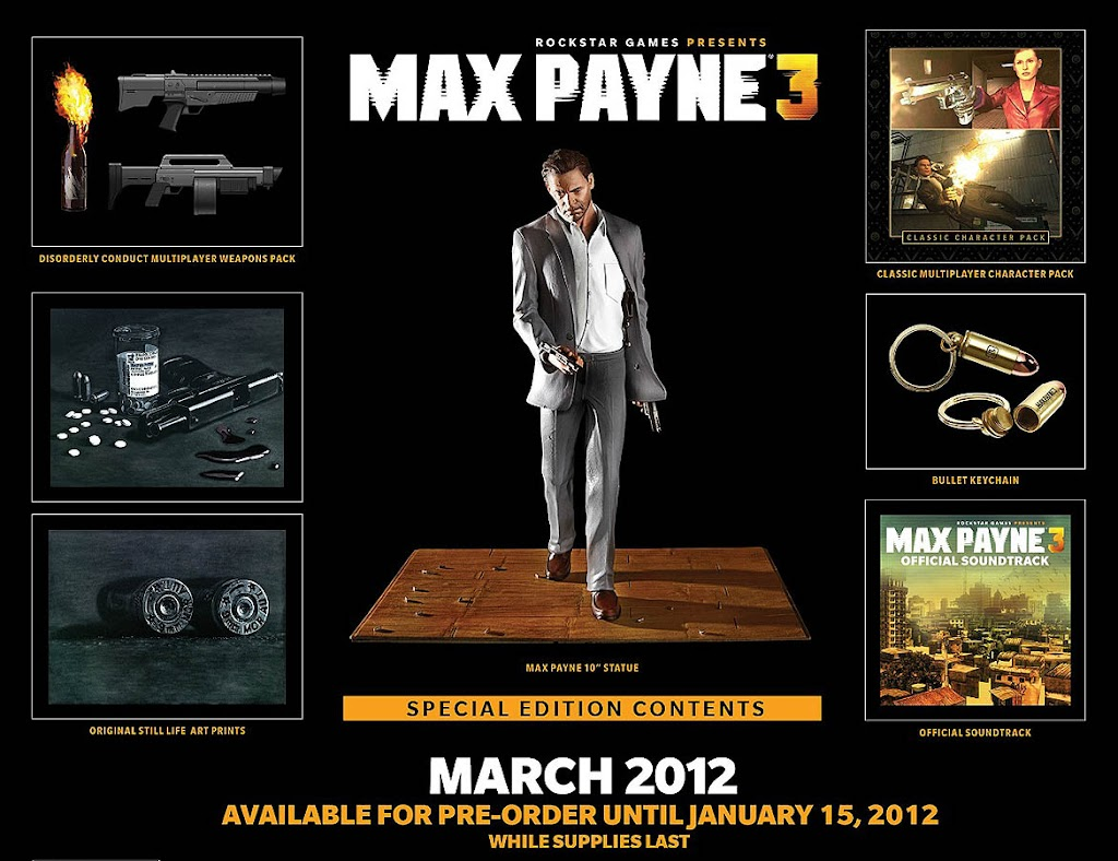 Max Payne 3 Release Date Trailer And Gameplay For Xbox 360 Pc Ps3