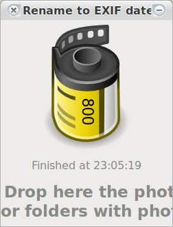 Renombrar fotos según su fecha de creación: rename-to-exif-date