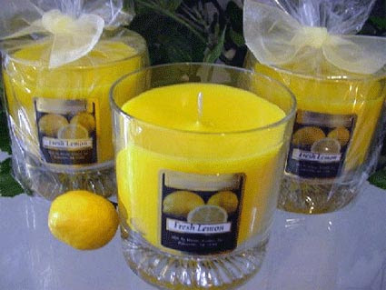 Limon kokulu mum