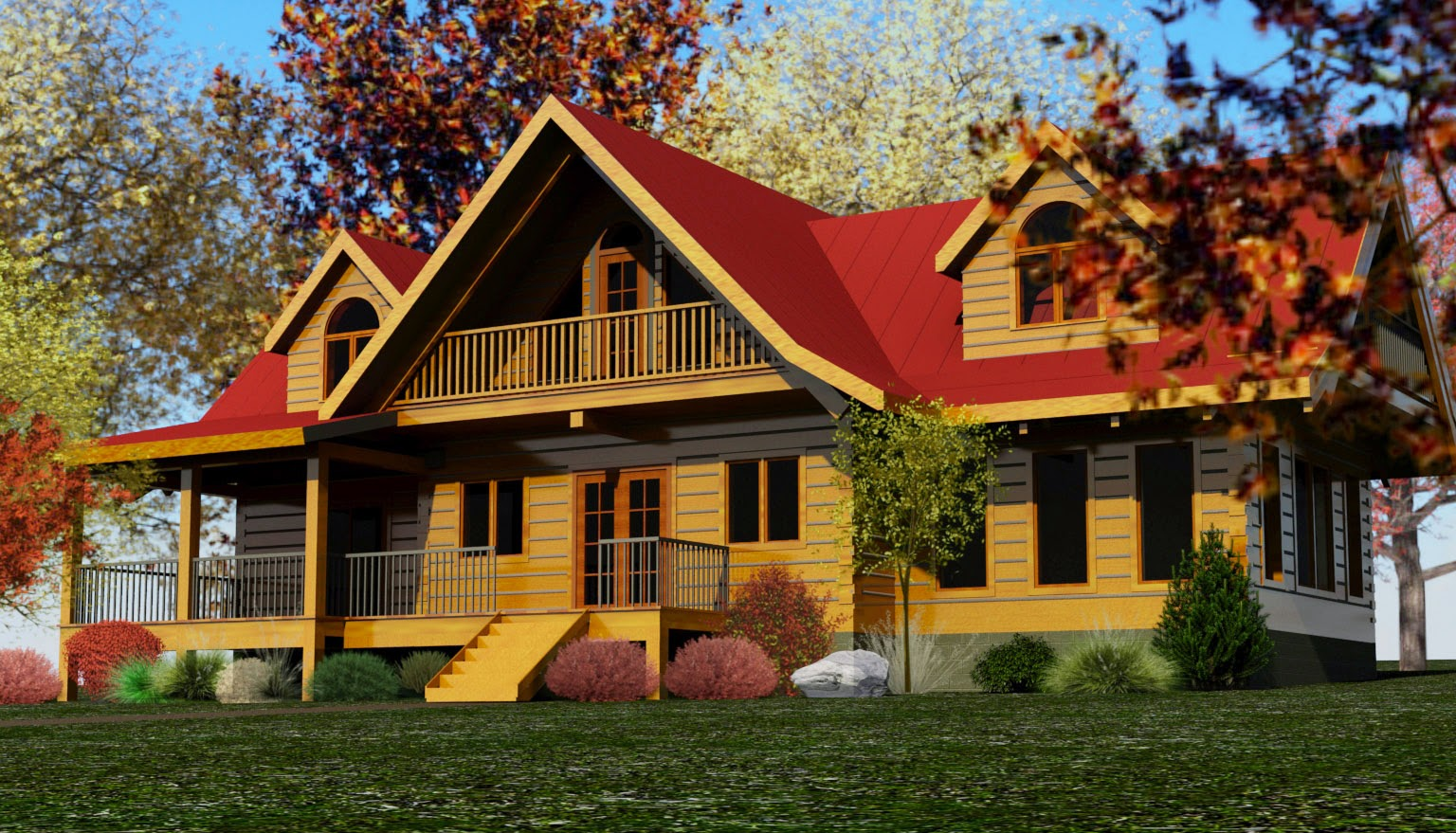 Gallery for Log home plans ontario