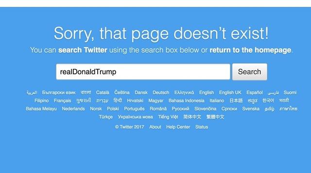 hasil pencarian akun realDonaldTrump - sumber engadget