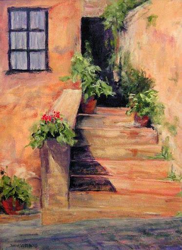 """Castelinna in Chianti"" by Artist Diana Saffo Bono. Acrylic, 18"" x 24"",$800.00."