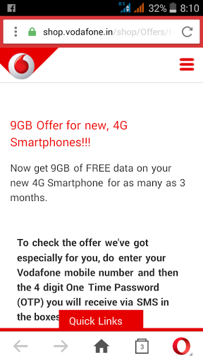 Get 9Gb free 4g vodafone data @ 1gb internet price free Trick university