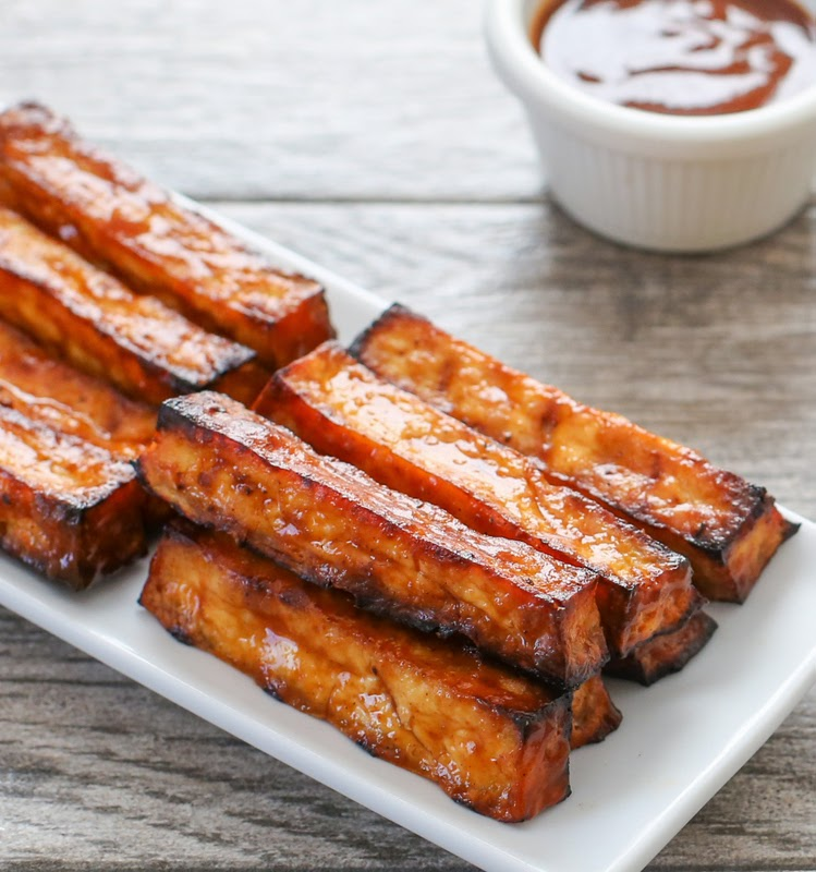 photo of bbq tofu fries on a plate