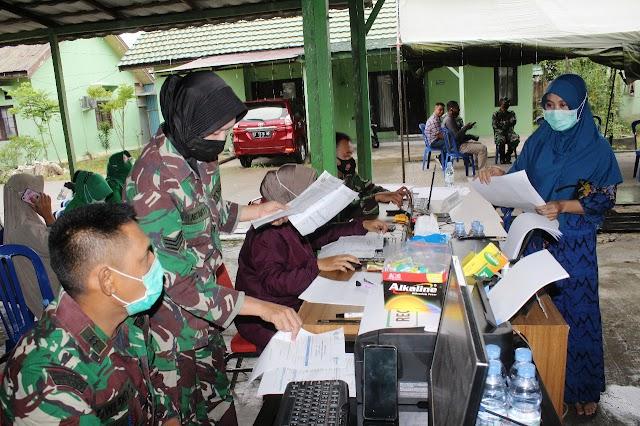 Serbuan vaksinasi Covid- 19 Kodim 0906/Tenggarong