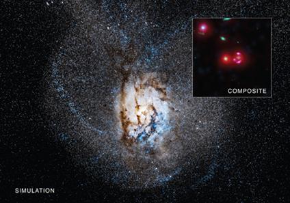 simulação e composição da galáxia SPT 0346-52