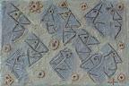 241 - Profils Bleus - 2013 - 24 x 16 - Sable, aquarelle sur toile