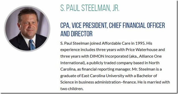 S. Paul Steelman, Jr-Affordable Care CPA-VP