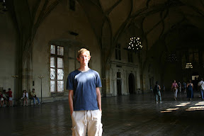 In Vladislav Hall, the Royal Palace, Prague Castle