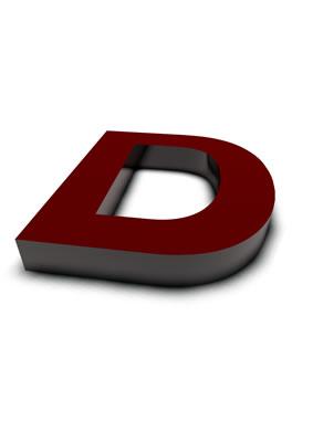 lettre 3D rouge de Chine - D - images libres de droit