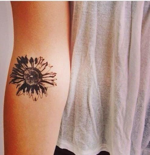 Todos os Melhores Lindos Desenhos de Tatuagem de Girassol