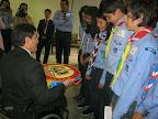 Entrega de Bandera a la delación Colombia