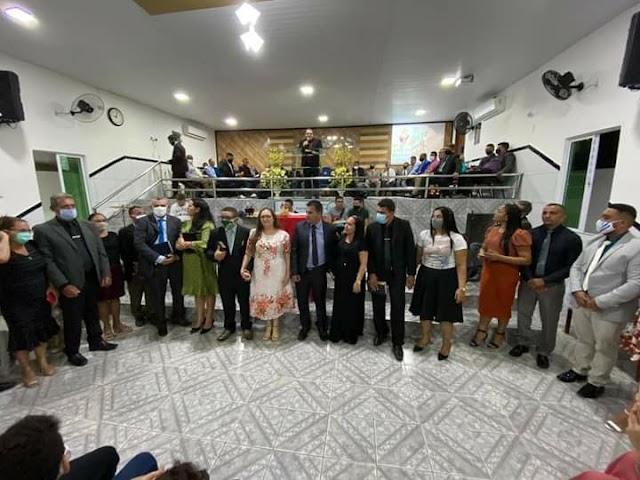 Culto de santa ceia e consagração de obreiros na AD em Itarema-Ce