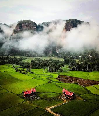 suasana di lembah Harau Sumbar
