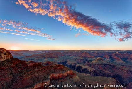 Sunset at Grand Canyon Yavapai Point