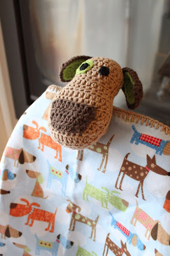 Not 2 late to craft: Gosset-manta de ganxet / Puppy dog lovey crochet blanket