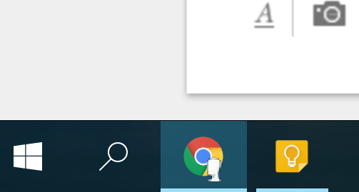 How can I remove my account picture from the Chrome taskbar icon in