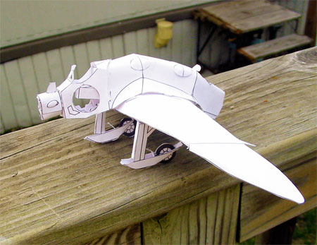 Nausicaa Gunship Paper Model