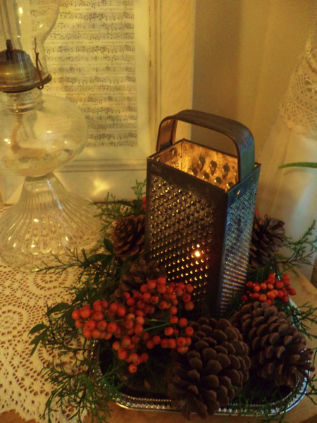 Christmas Grater Candle