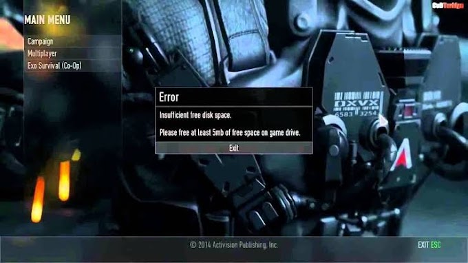 Call of Duty, Insufficient Free Disk Space Hatası