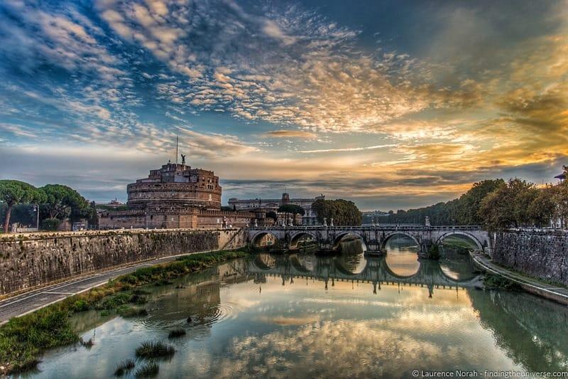 Sunrise castell d angelo rome