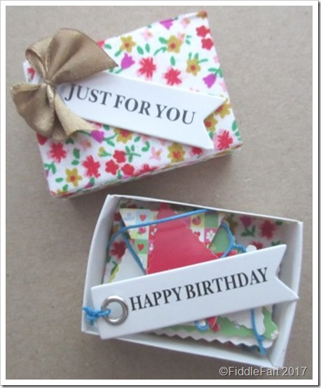 Birthday Bunting Matchbox