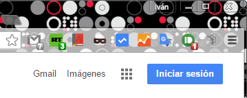 Botones de las extensiones de Google Chrome