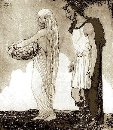 Idunna And Loki, Asatru Gods And Heroes