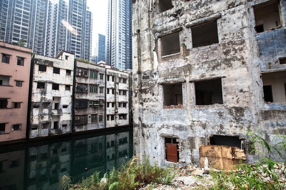 Xian Cun - последняя деревня, сопротивляющаяся поглощению Guangzhou