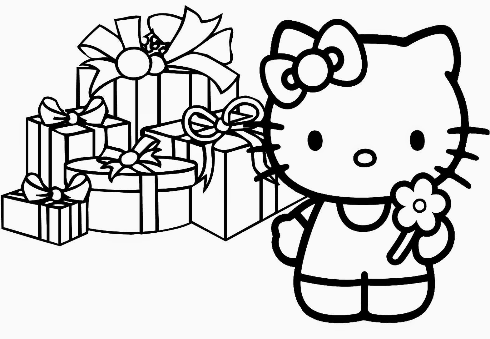 hello kitty birthday coloring page - hd hello kitty birthday cake coloring pages design