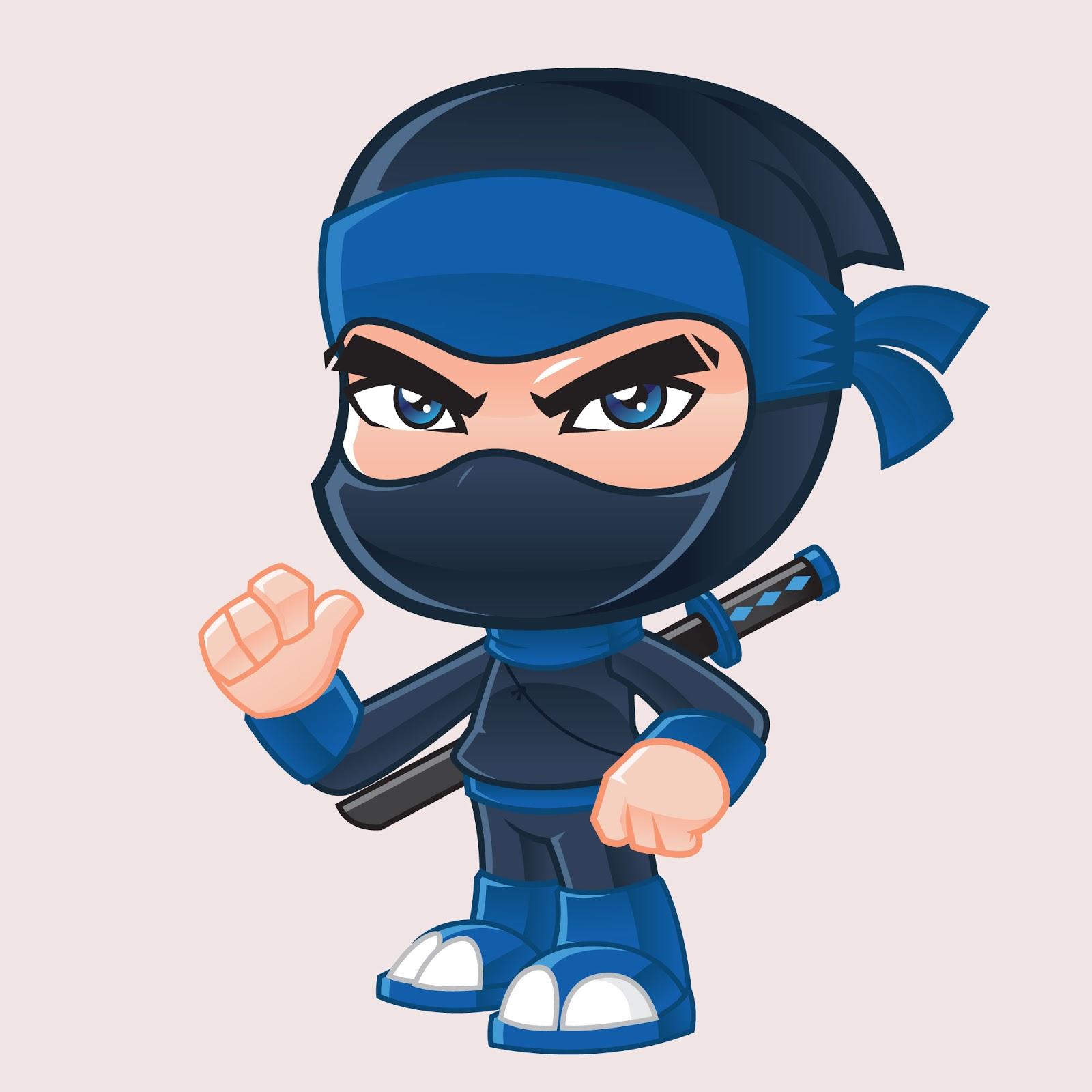 Ninja Mascot Illustration Free Download Vector CDR, AI, EPS and PNG Formats