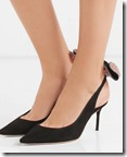 Sophia Webster Bow Embellished Black Suede Slingbacks