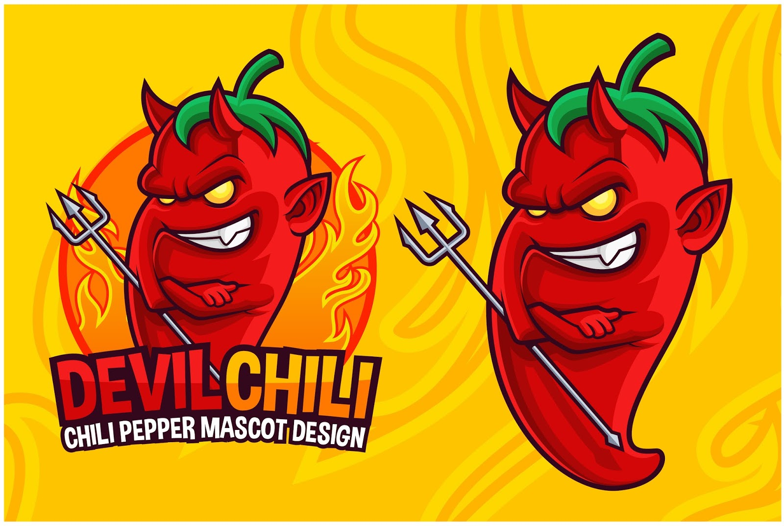 Devil Chili Pepper Mascot Free Download Vector CDR, AI, EPS and PNG Formats