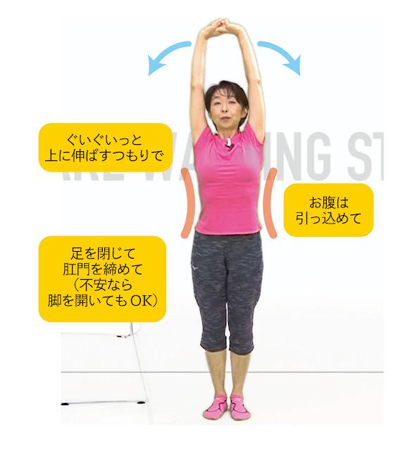 肩こり・腰の疲れ解消ストレッチ