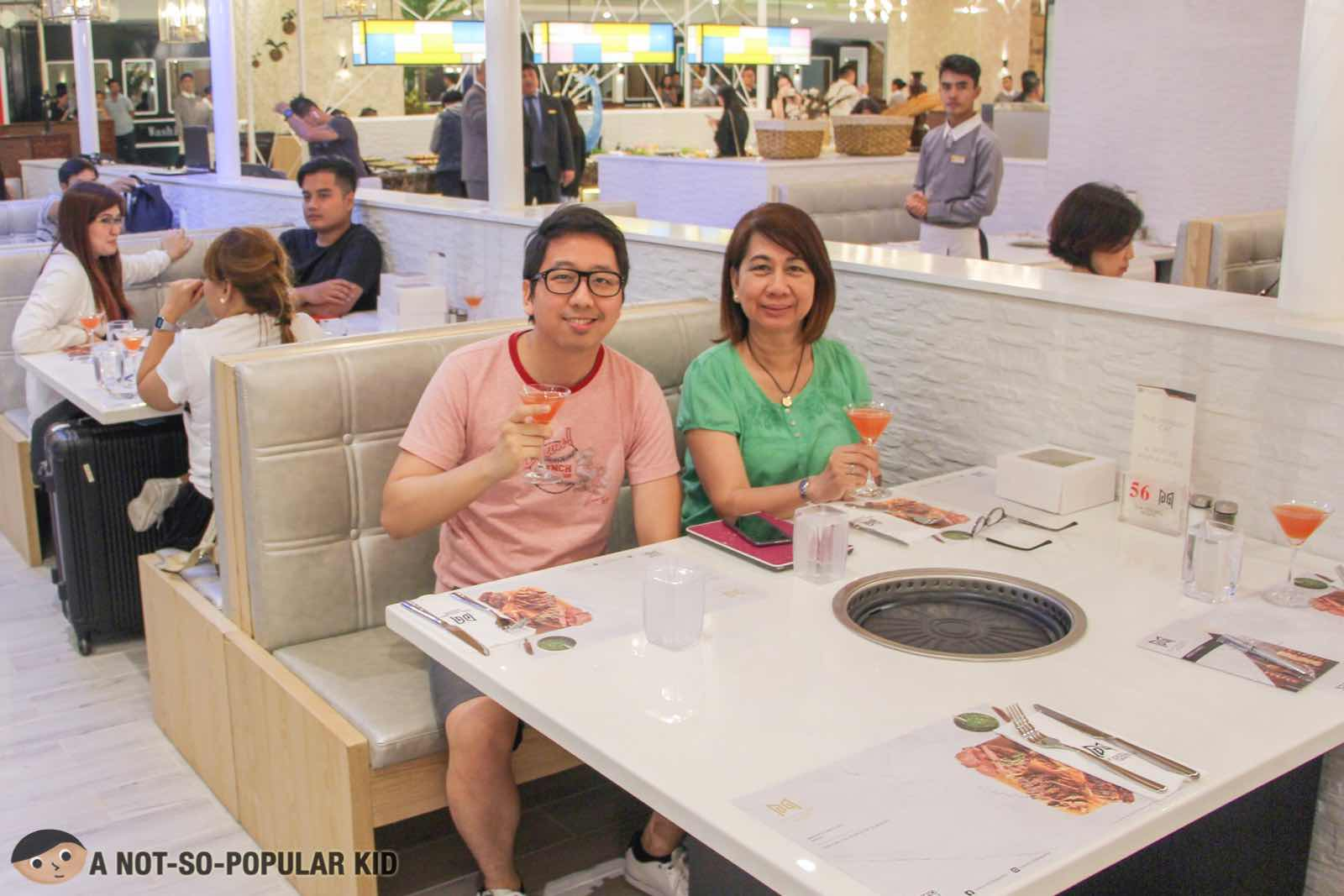 Renz Cheng and his mom in Six Doors, Uptown Mall