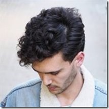 Ambarberia Side Part Hairstyle For Curly Hair Men 300x300