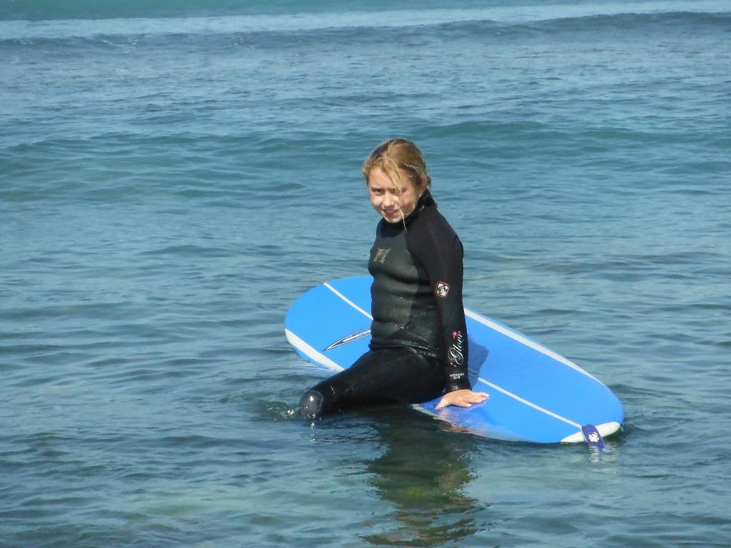 Maddie taking a surf break.
