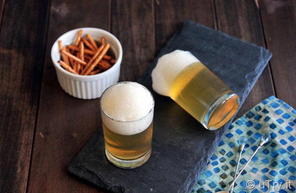 April's Fool Recipe – Apple Juice Jello in Disguise as A Glass of Beer