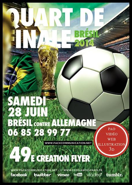création flyer brésil 2014 coupe du monde 01