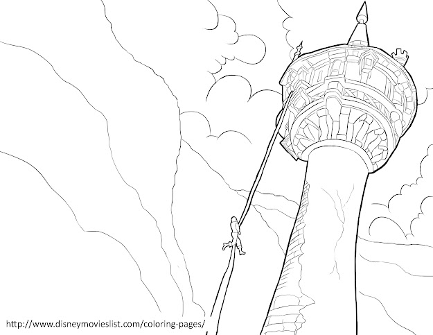 Rapunzel Tower  Related Coloring Pages