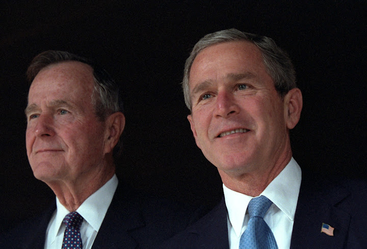 Bush 41 and Bush 43 remain silent about Trump