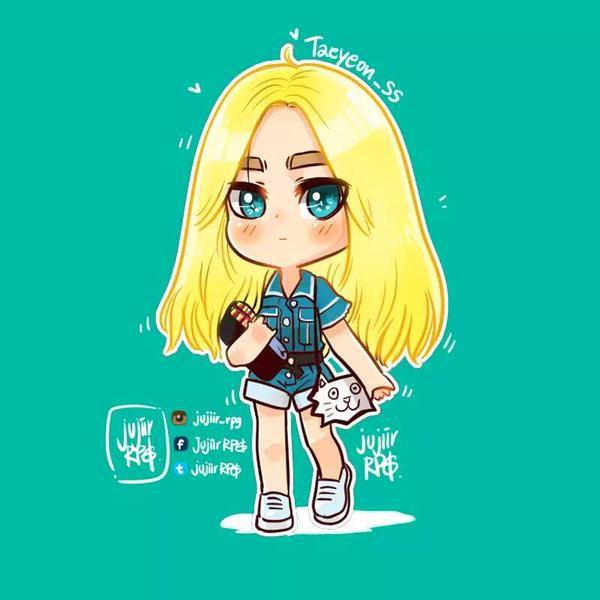 ネコカバンを持った金髪少女時代テヨン150610仁川空港出国のfanart