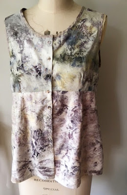 A garment made by Jacqui from her eco-dyed fabrics