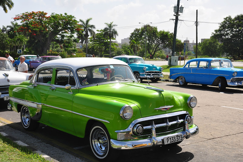 Journey With Children Classic Cars In Havana Cuba
