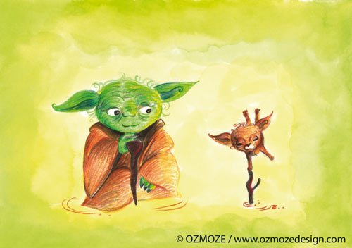 Star wars and their Dog (Yoda, Série)