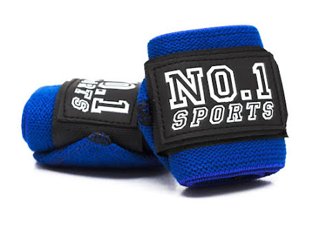 No.1 Sports Wrist Wraps Royal Blue - 50cm
