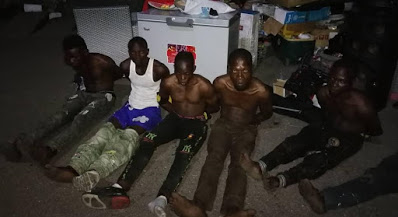 Hoodlums Who Looted Mall In Lekki Arrested By Soldiers With Stolen Goods (Photos)