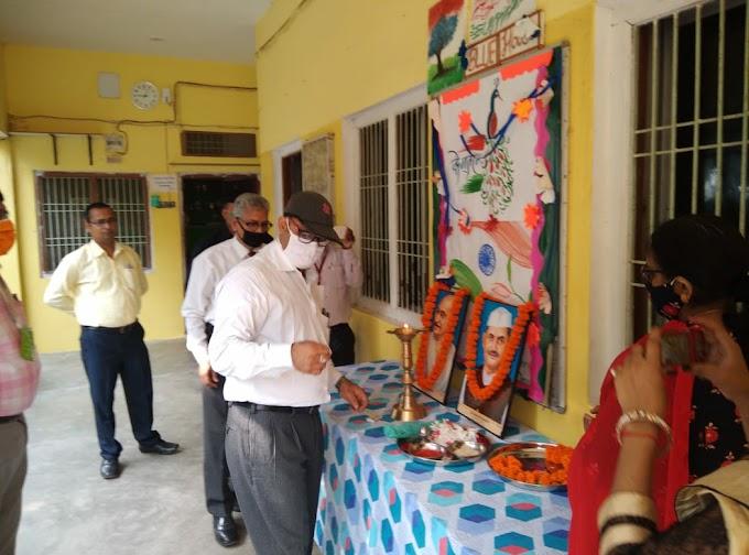 ज़ी॰डी॰ मेमोरियल स्कूल के प्रांगण में मनाया गया बापू जी तथा शास्त्री जी का जन्म दिवस