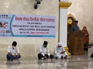 Menghitung Hari Jelang Pilkada Serentak 2020 KPU Soppeng Gelar Doa Dan Dzikir Bersama